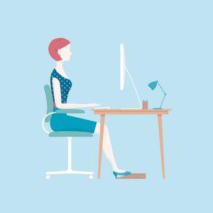 position assise bureau